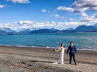 Wedding of Maggie McGuire and Payden Armstrong, 8-27-16, Land's End, Homer, AK